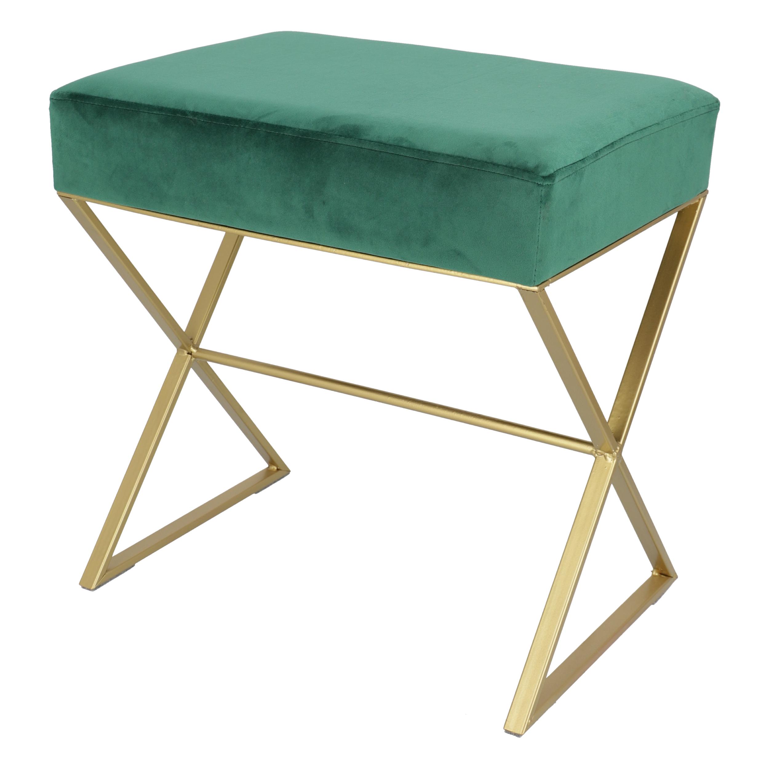 Pouf Glamour Rettangolare Verde