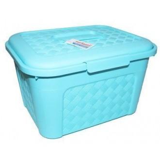 Antonio Fatigati Beauty Case 32x26x18cm Azzurro in Plastica Salva Spazio