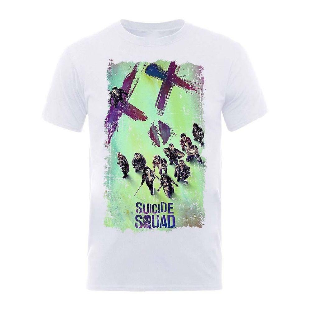 Suicide Squad movie poster maglietta manica corta taglia S