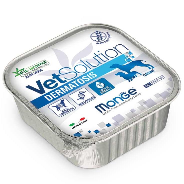 Monge - VetSolution Canine - Dermatosis - 150g x 12 vaschette