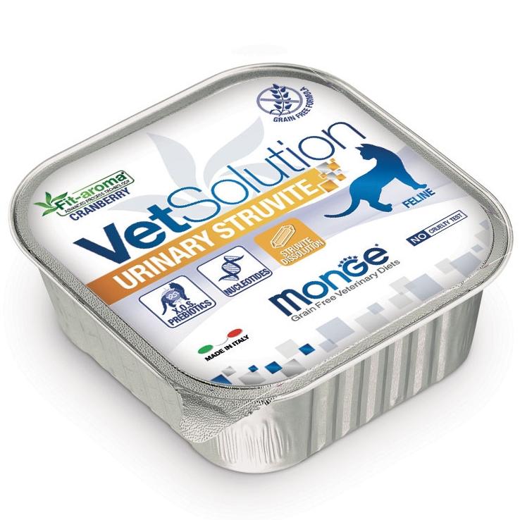 Monge - VetSolution Feline - Urinary Struvite - 100g x 12 vaschette