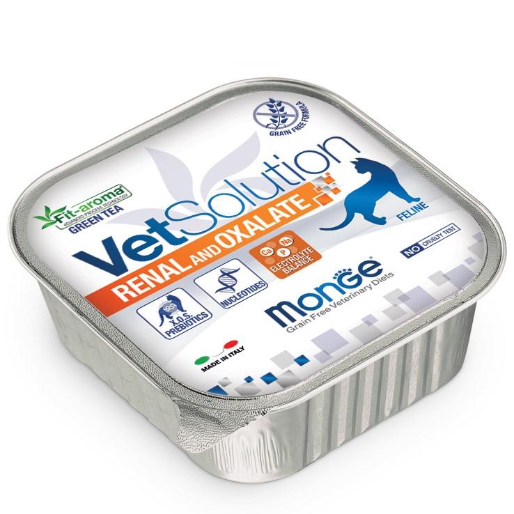 Monge - VetSolution Feline - Renal and Oxalate - 100g x 12 vaschette