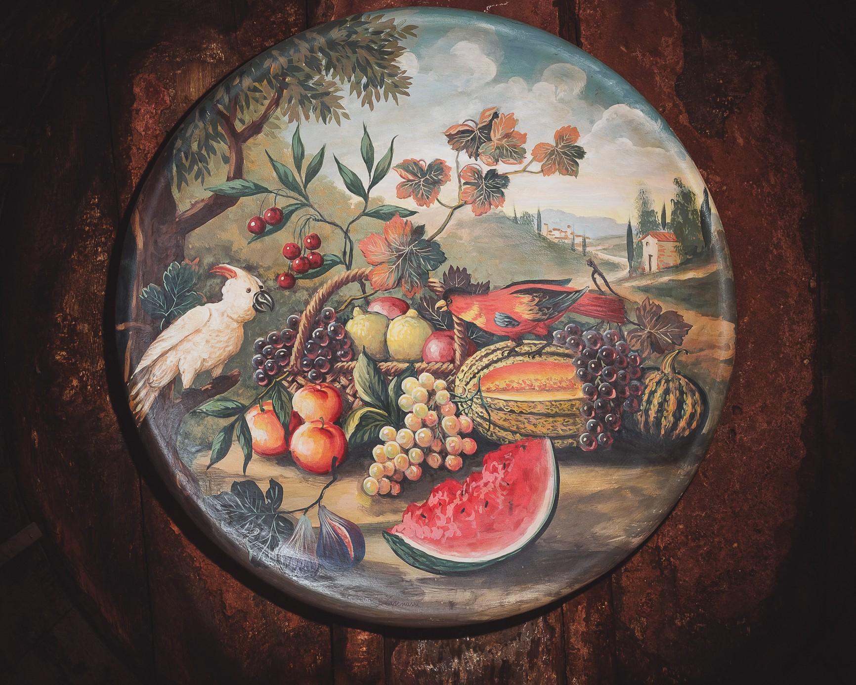 Piatto da muro in maiolica ''NATURA MORTA''