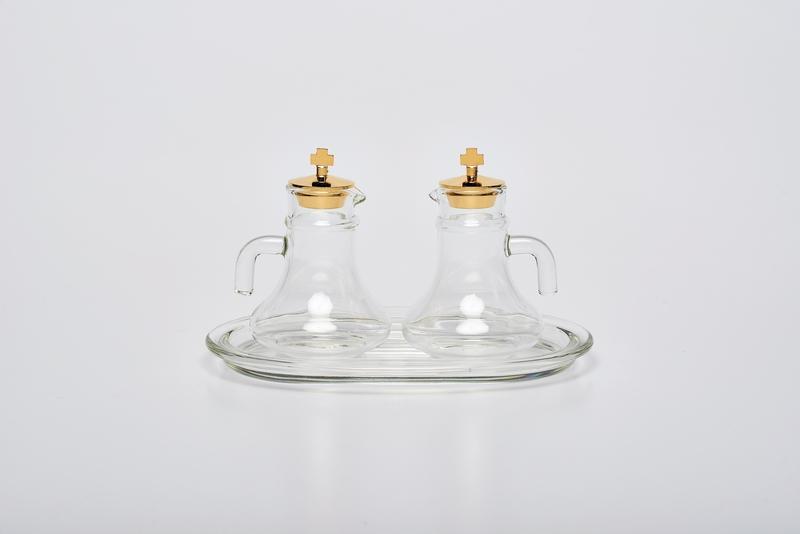 Ampolline e vassoio in vetro