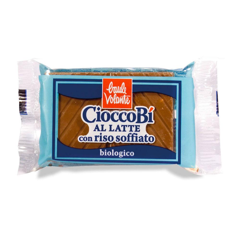 Cioccolato al latte con riso soffiato Baule volante
