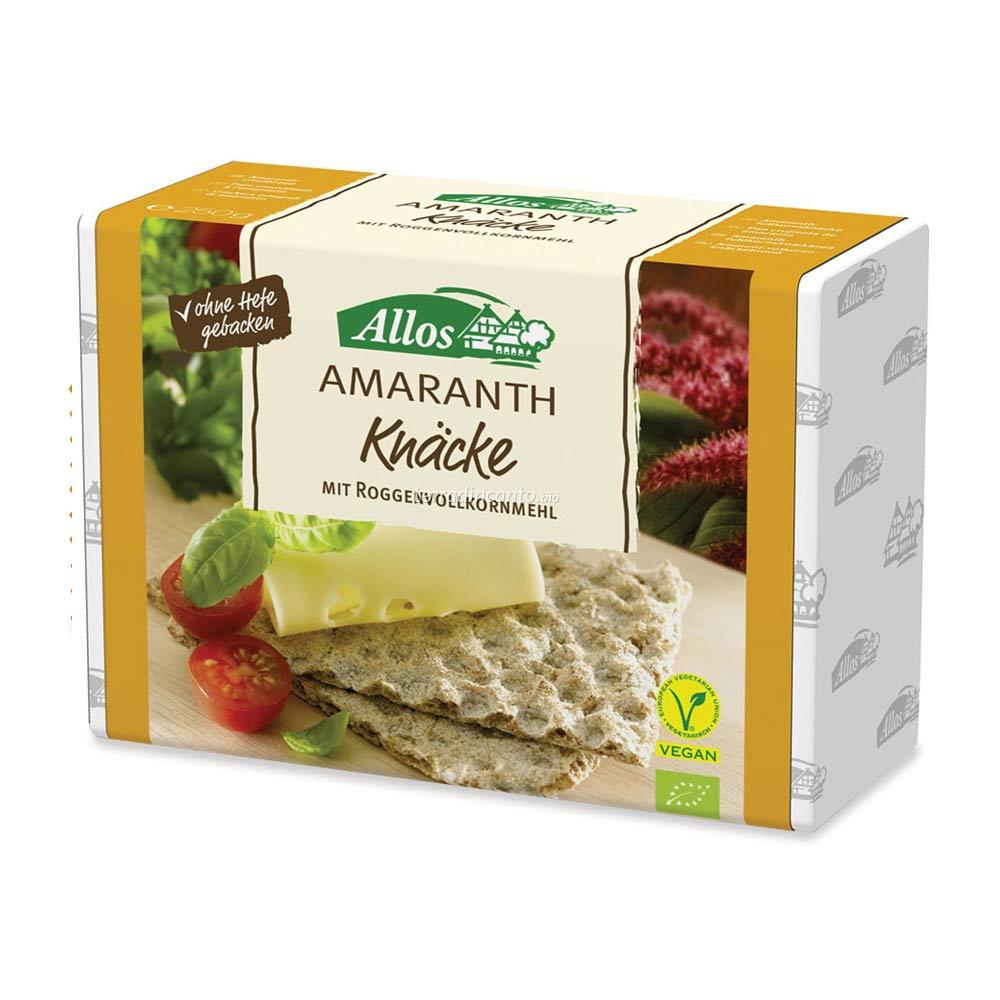 Crackers integrali di segale e amaranto Allos
