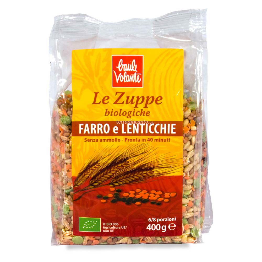 Zuppa farro e lenticchie Baule volante