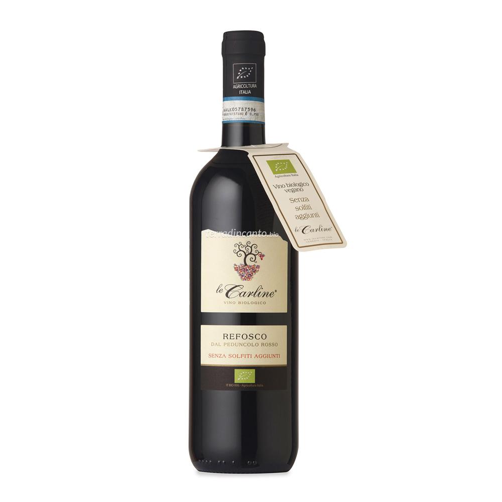 Vino rosso lison pramaggiore doc refosco dal peduncolo rosso senza solfiti aggiunti Le carline