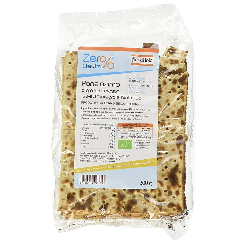Pane azimo di grano khorasan kamut® integrale Zer%lievito