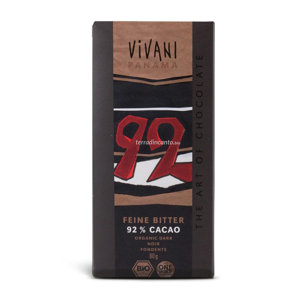 Cioccolato fondente 92% Vivani