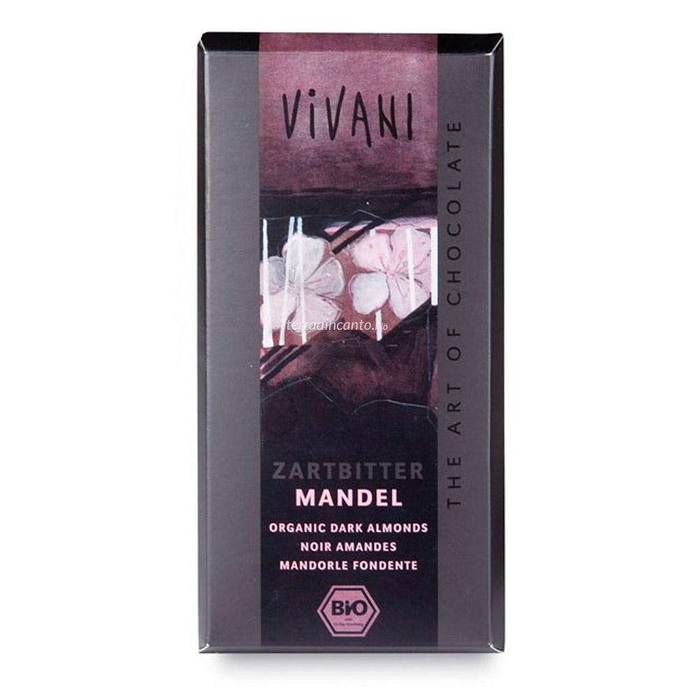 Cioccolato fondente con mandorle Vivani
