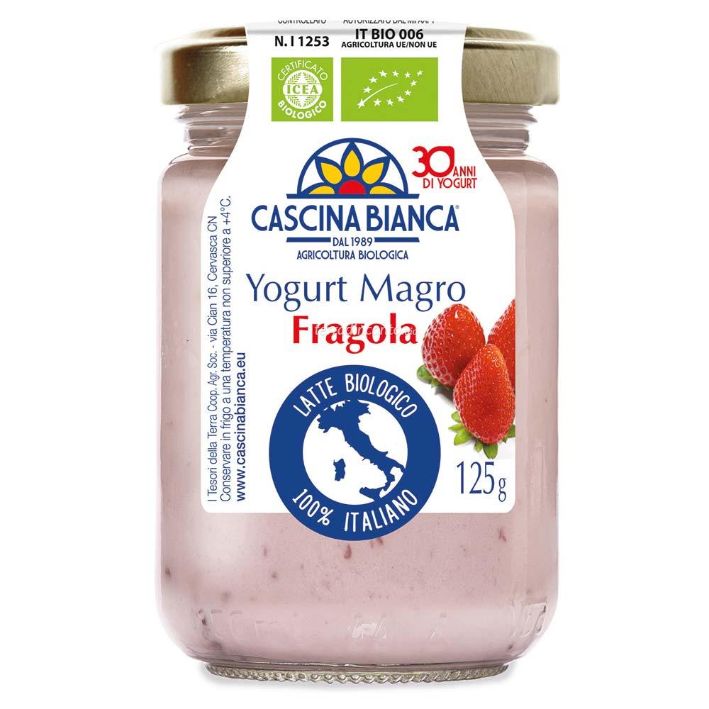 Yogurt magro alla fragola Cascina bianca
