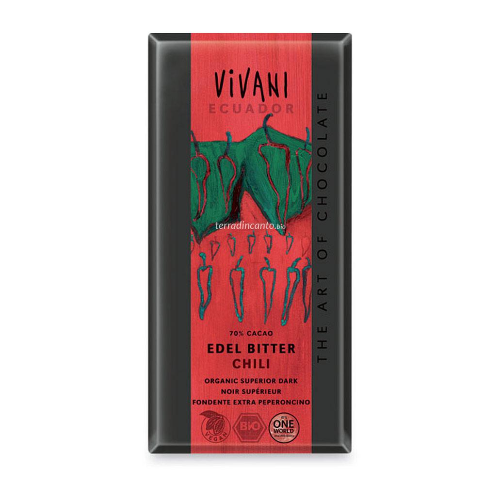 Cioccolato fondente al chili Vivani
