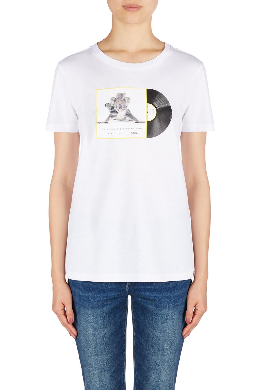 T-Shirt donna ARMANI EXCHANGE stampa koala