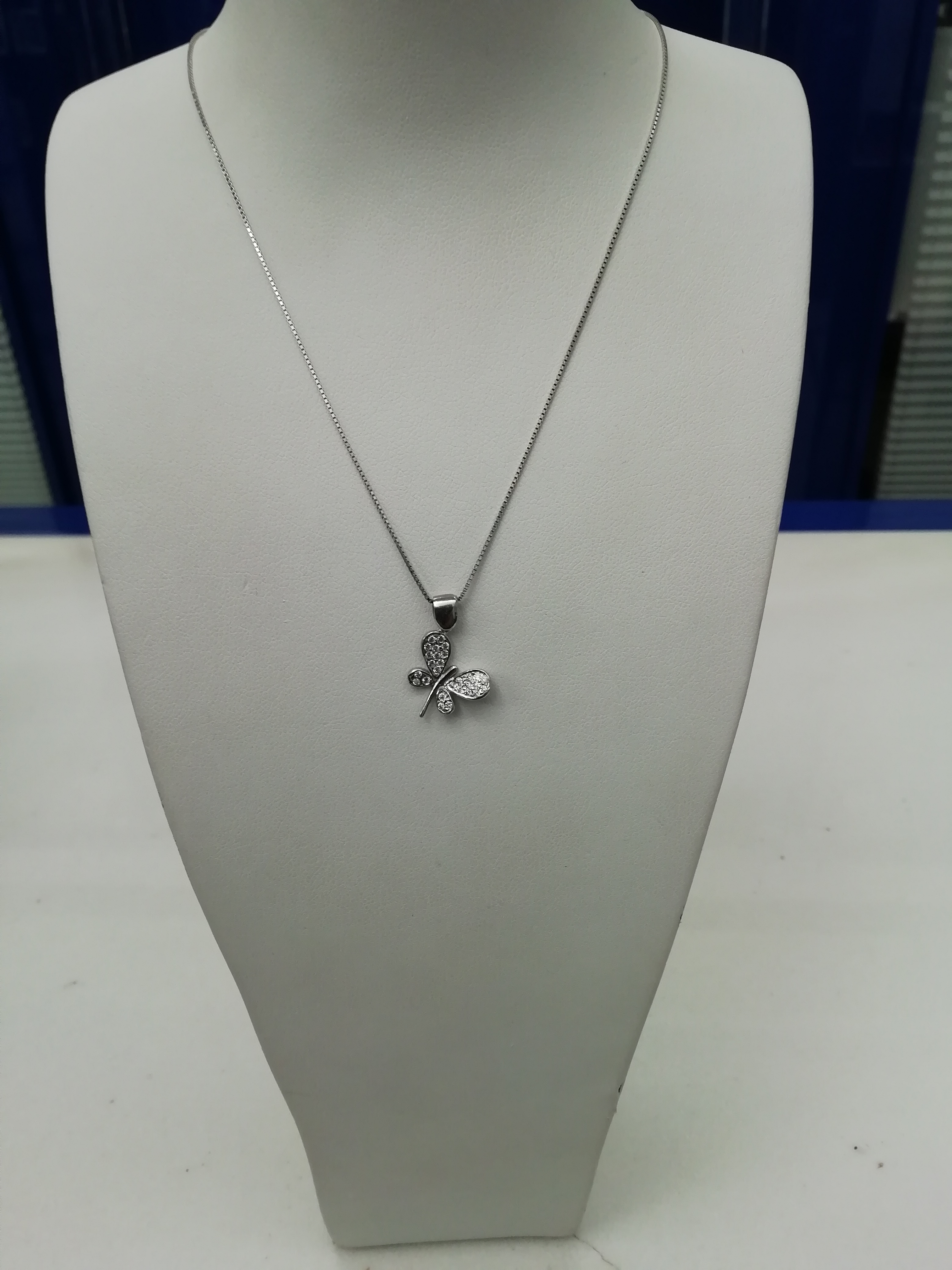 Girocollo names in argento farfalla zirconi