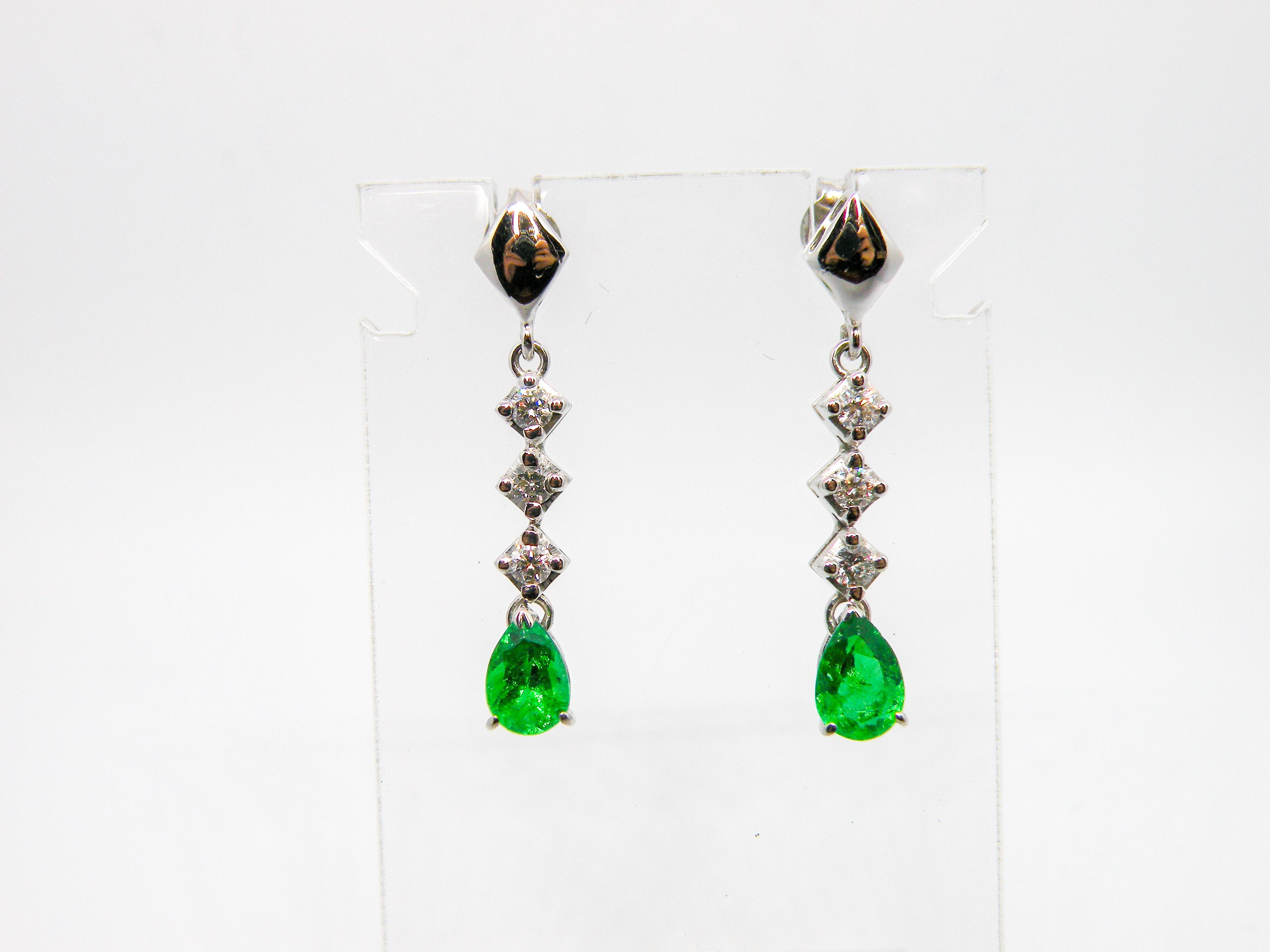 Orecchini Smeraldi e Diamanti
