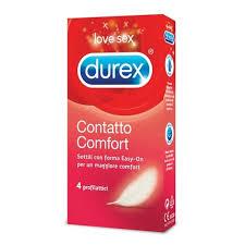 Profilattico Durex  Contatto Comfort 4 profilattici