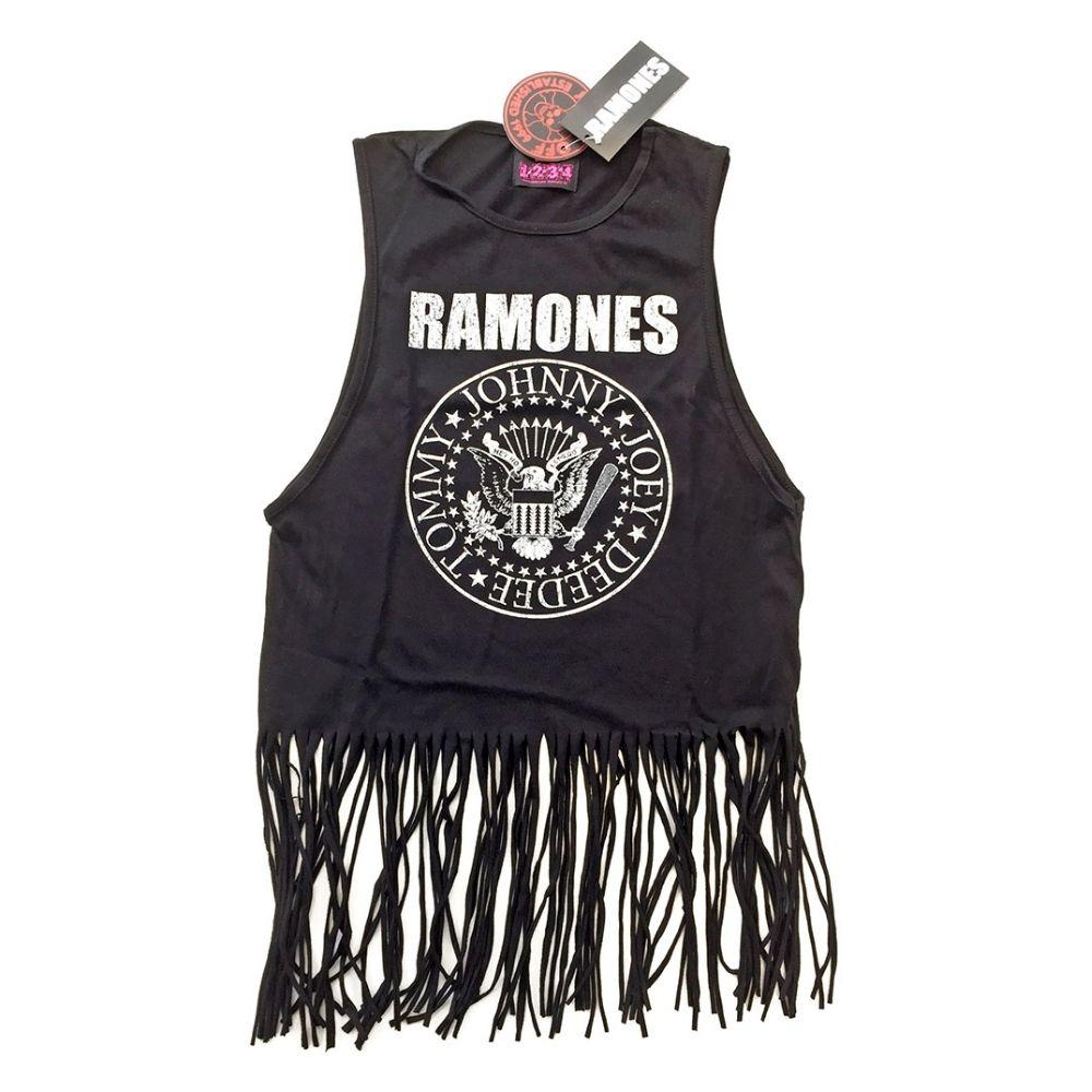 Canotta con frange Ramones taglia S