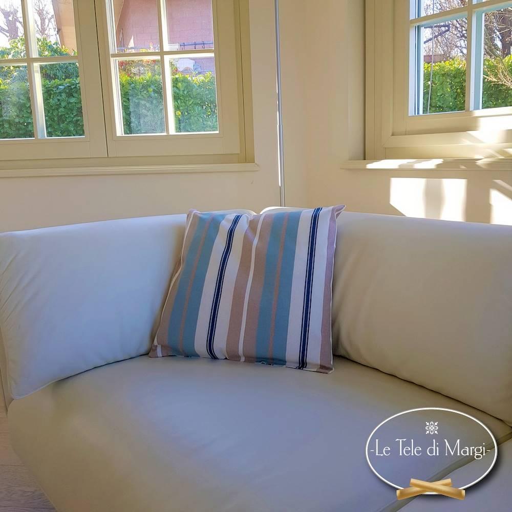 Fodera cuscino 50 x 50 riga multicolor