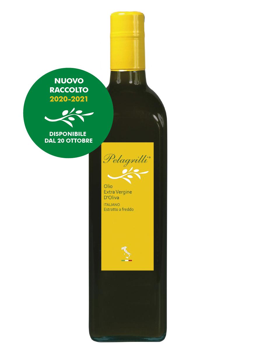 100% ITALIANO LT 0,75  Olio extravergine di oliva - Raccolto 2020-2021 - estratto a freddo - FILTRATO