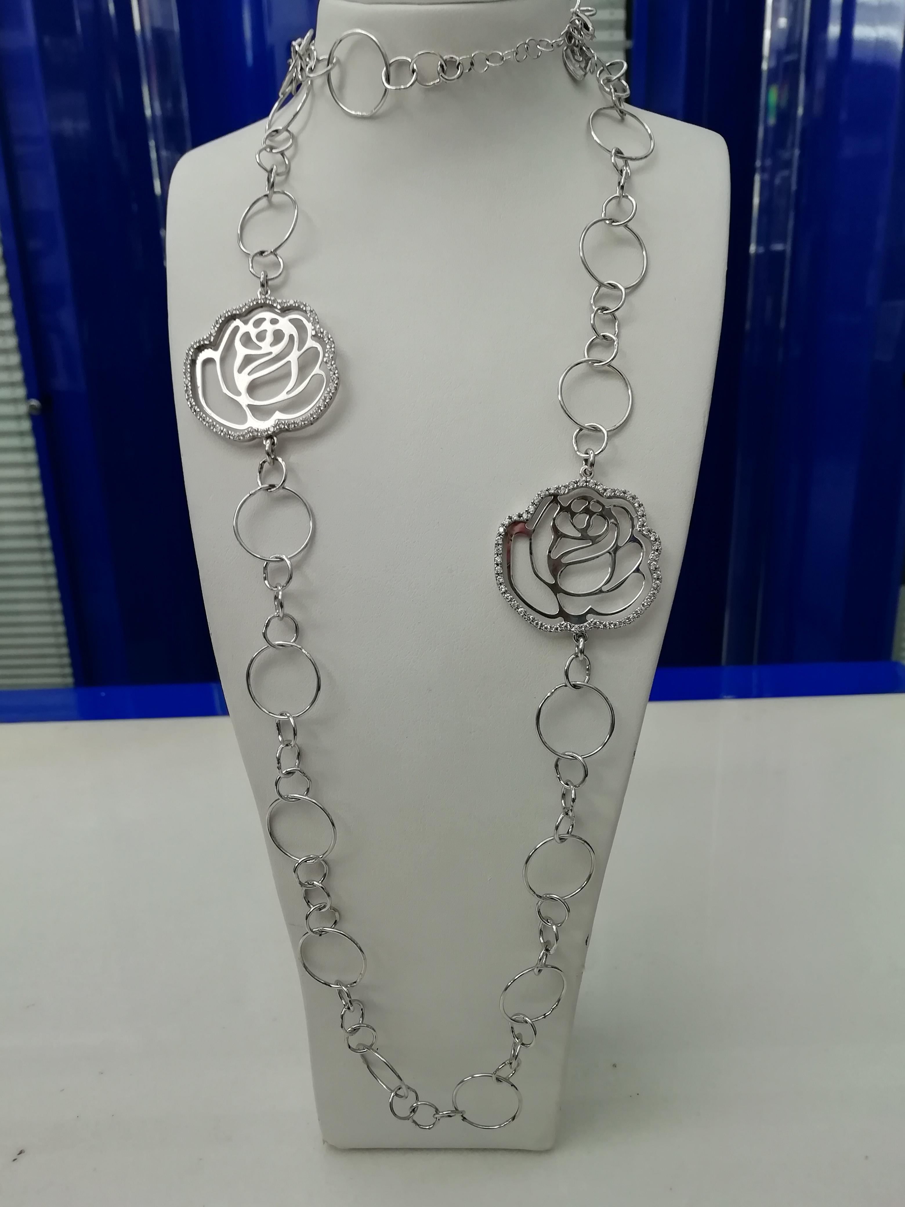 Collana Names in argento motivo floreale