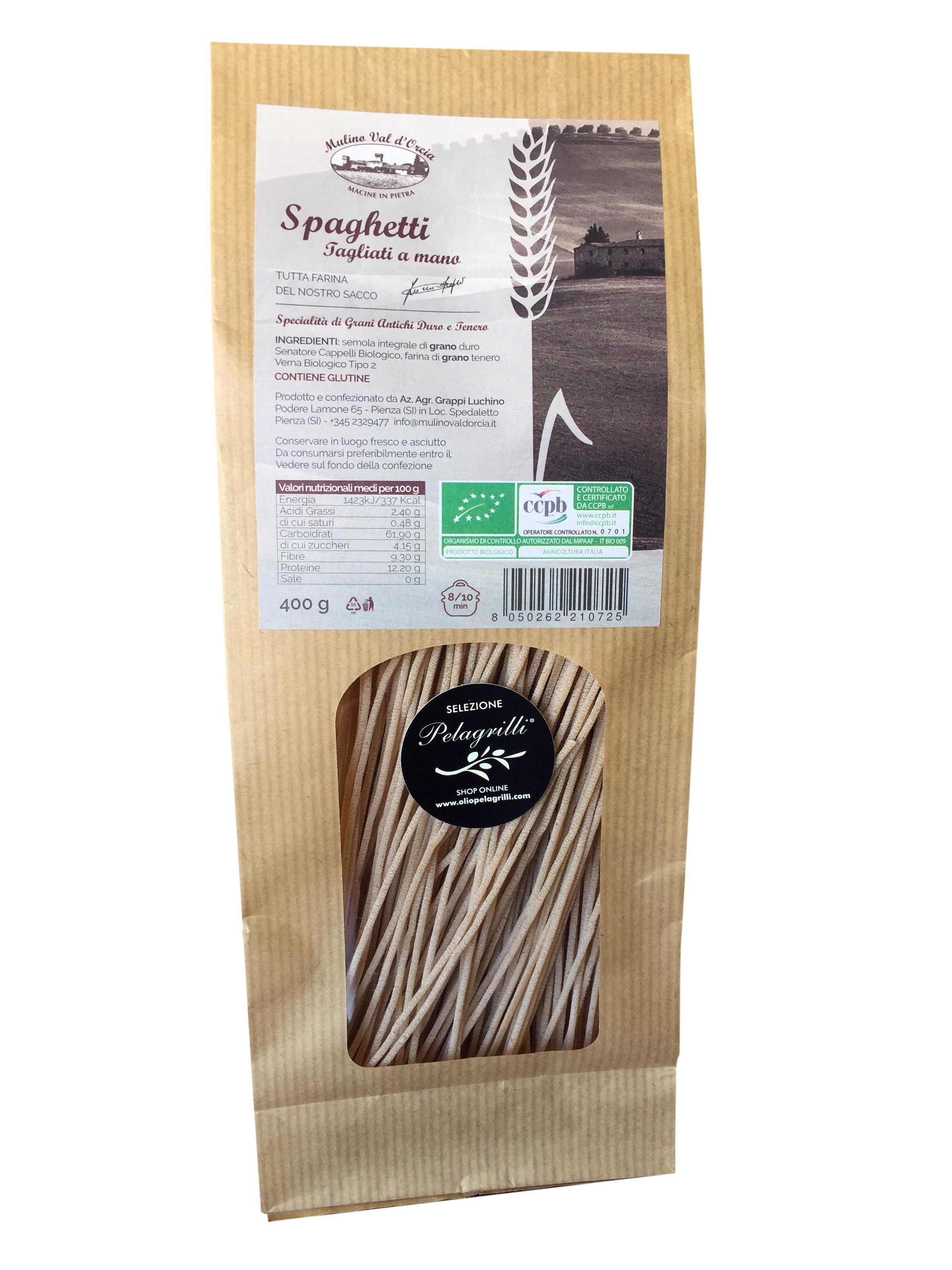Spaghetti BIOLOGICI confezione da gr 400
