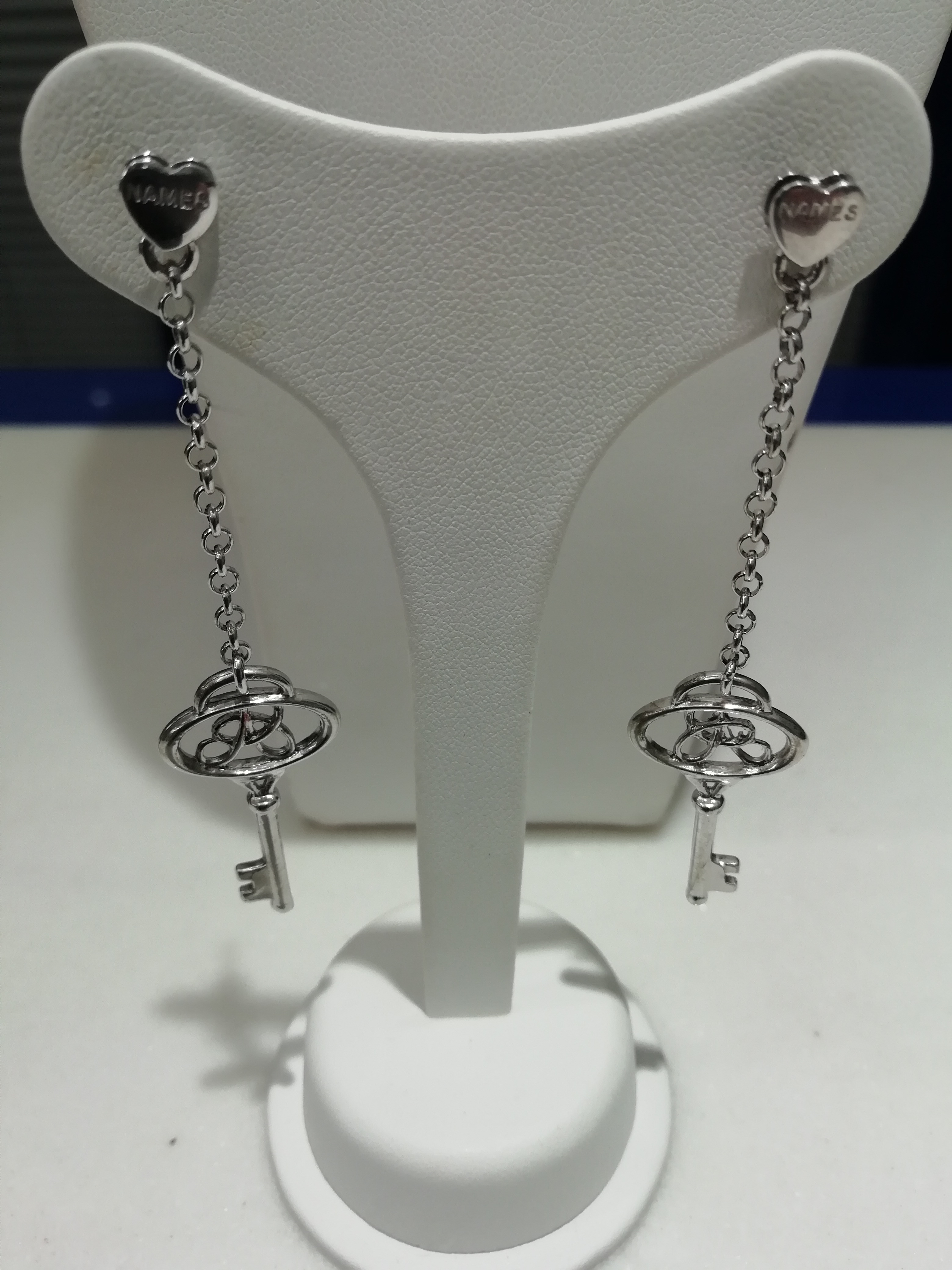 Orecchini names in argento soggetto chiavi