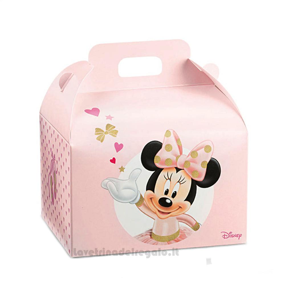 Valigetta porta-dolci Minnie Ballerina Rosa 16x14x10 cm - Scatole battesimo bImba