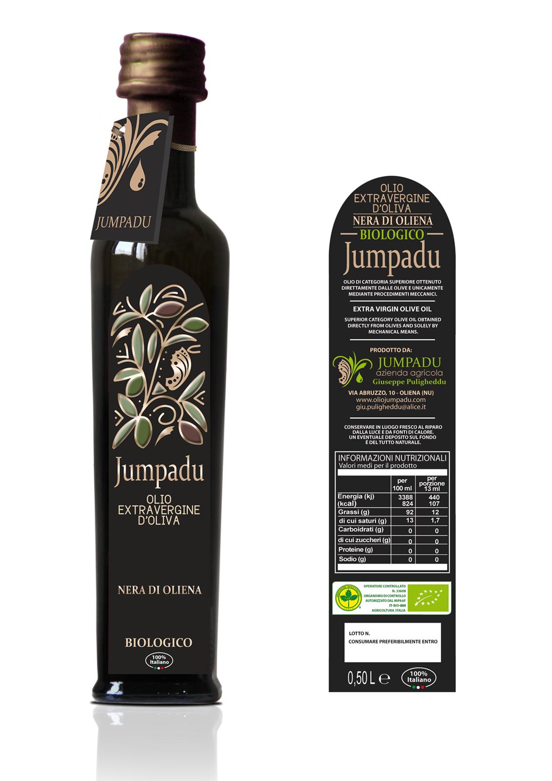 "Jumpadu- Olio extravergine di oliva biologico  ""Nera di Oliena"""