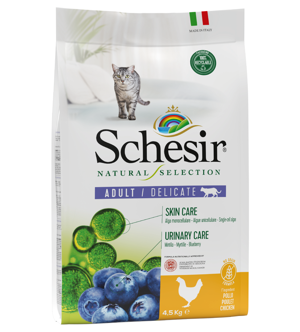 Schesir Cat - Natural Selection - No Grain - Adult - Pollo - 4.5kg
