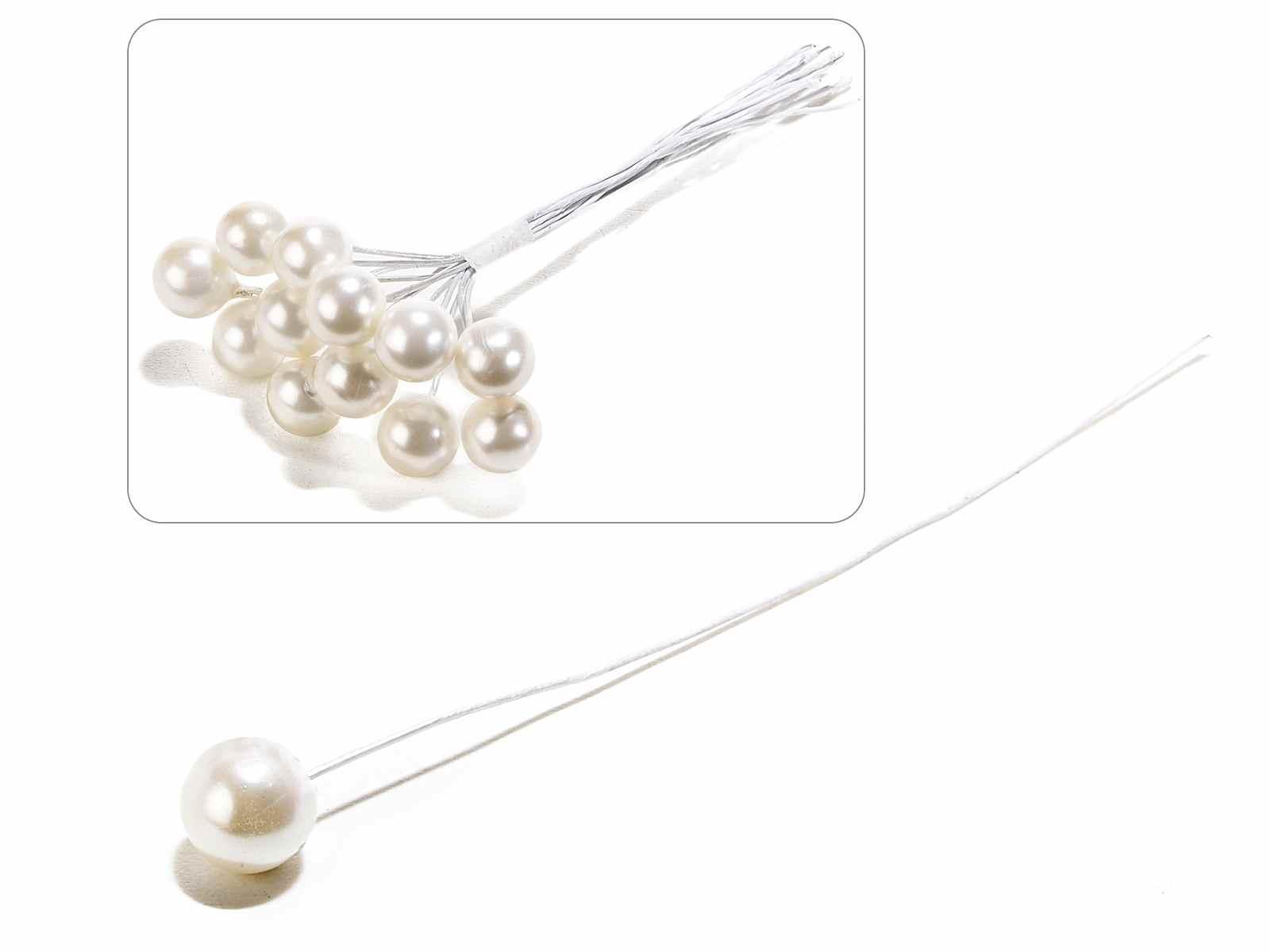 Perla avorio lucida con gambo modellabile