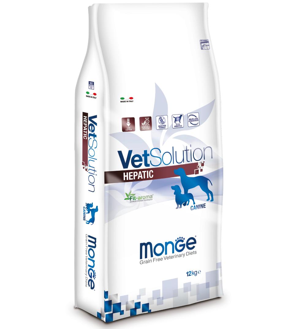 Monge - VetSolution Canine - Hepatic - 12kg