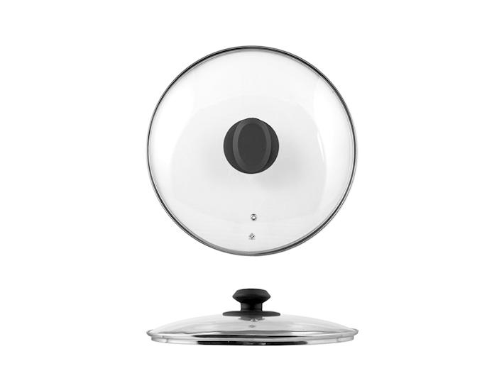 Coperchio in vetro con bordo in acciaio cm20