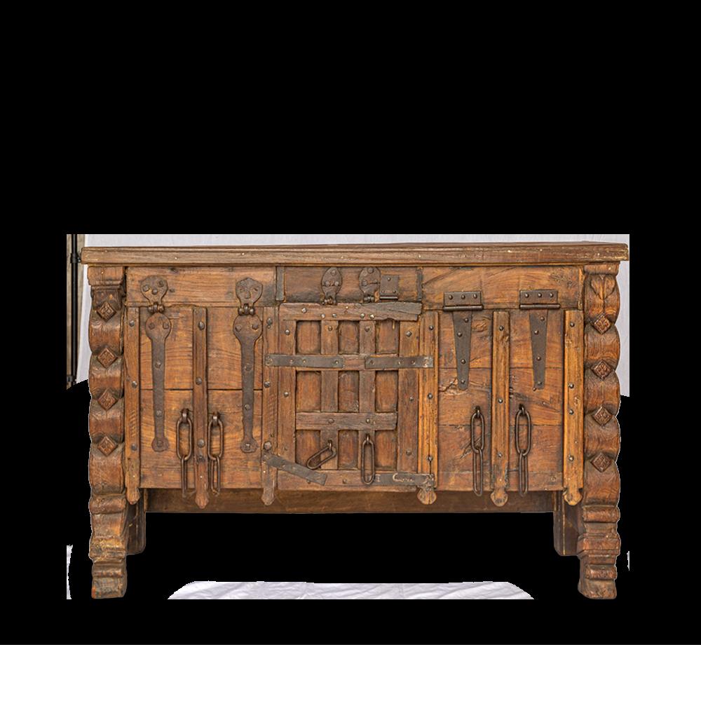 Consolle in legno di teak con portale