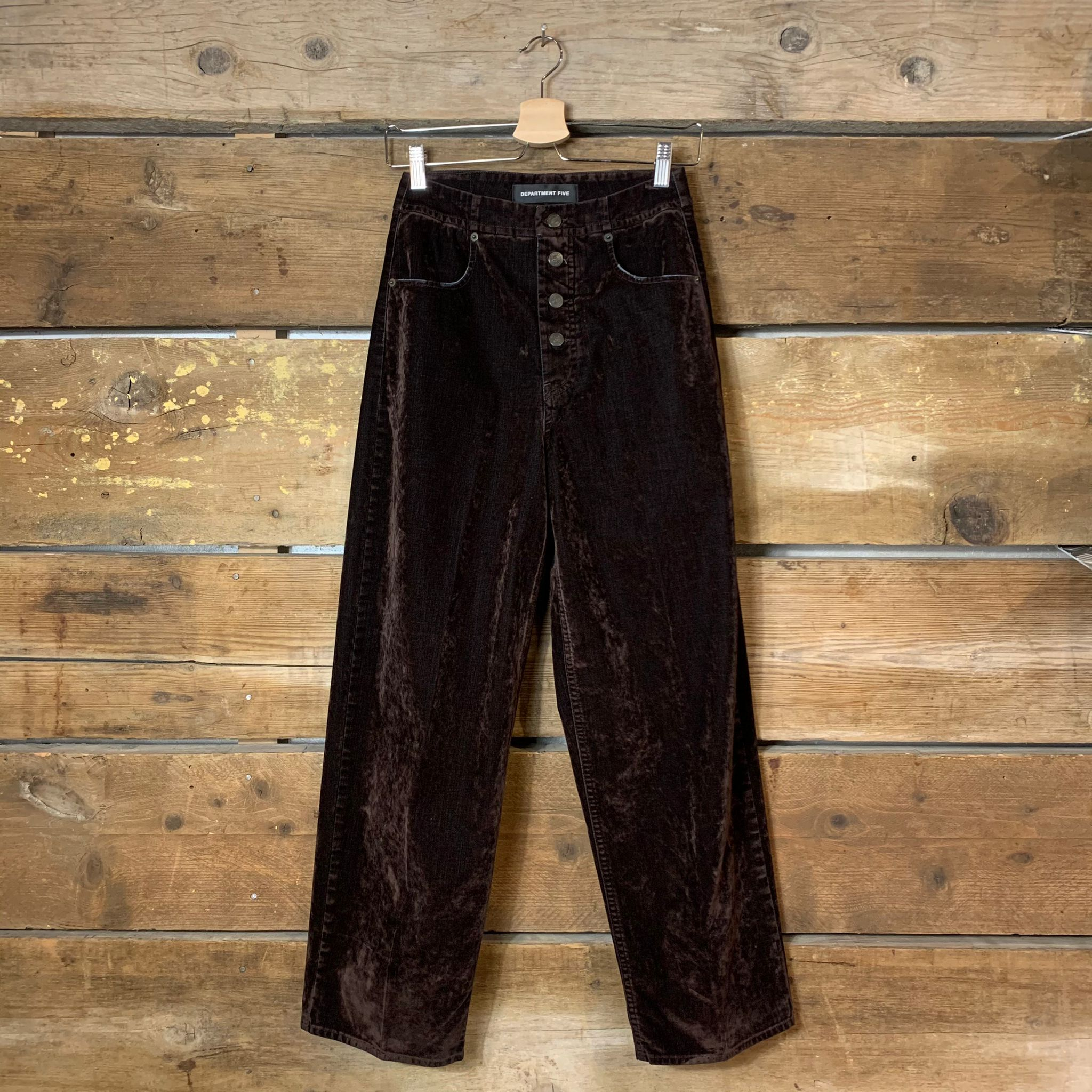 Pantalone Donna Department 5 Margy A Palazzo In Velluto Moro