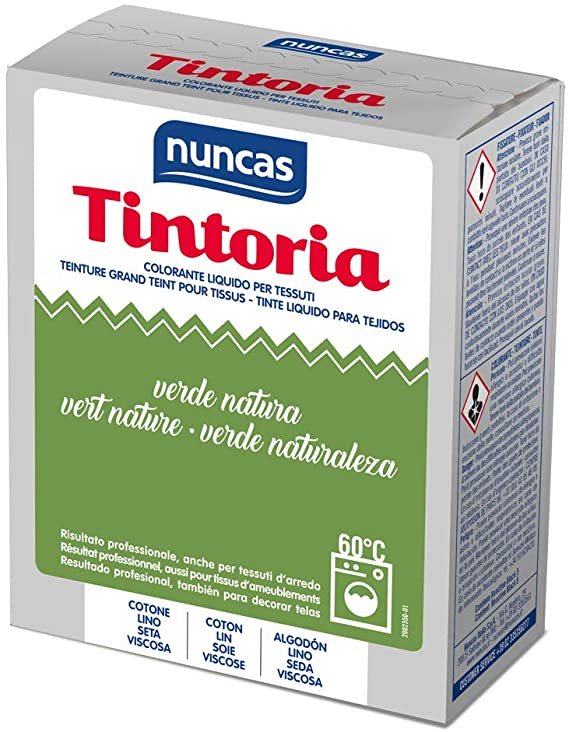 NUNCAS Tintoria Colorante Liquido Tessuti Verde Natura 100 ml