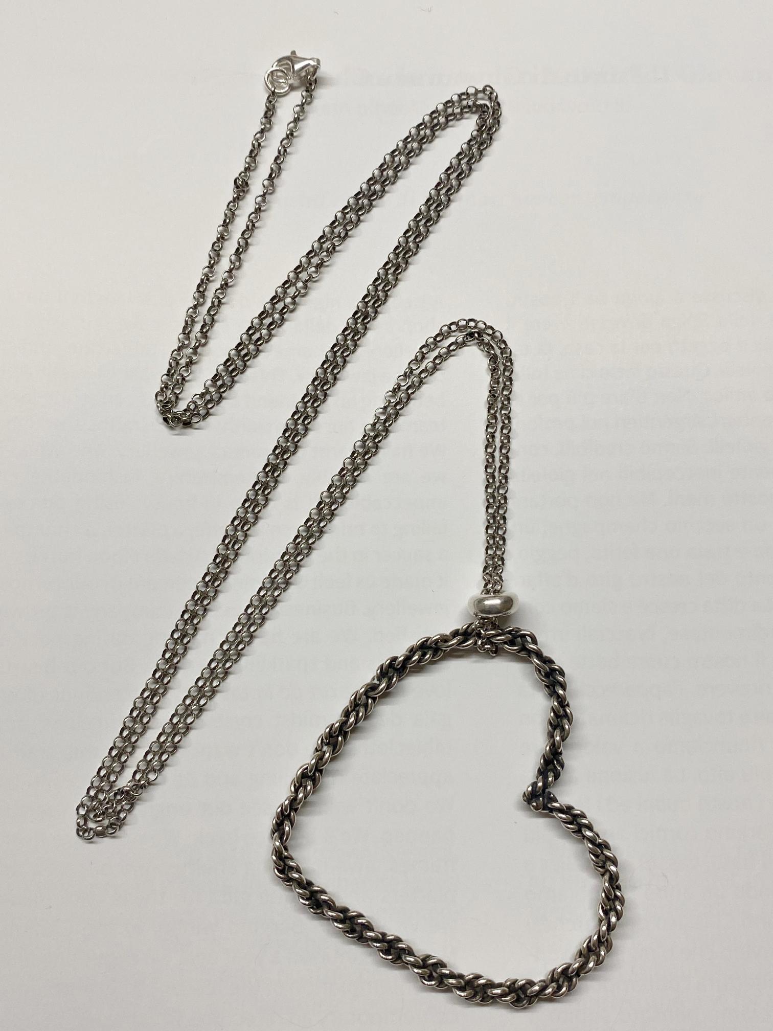 Collana con ciondolo cuore in argento 925