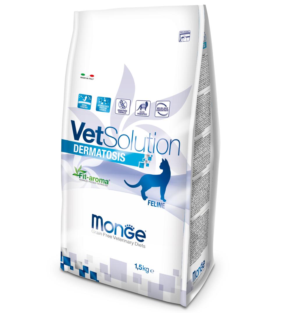 Monge - VetSolution Feline - Dermatosis - 1.5kg