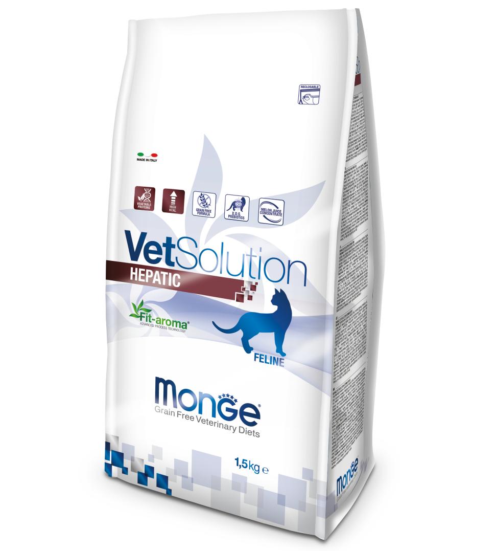 Monge - VetSolution Feline - Hepatic - 1.5kg