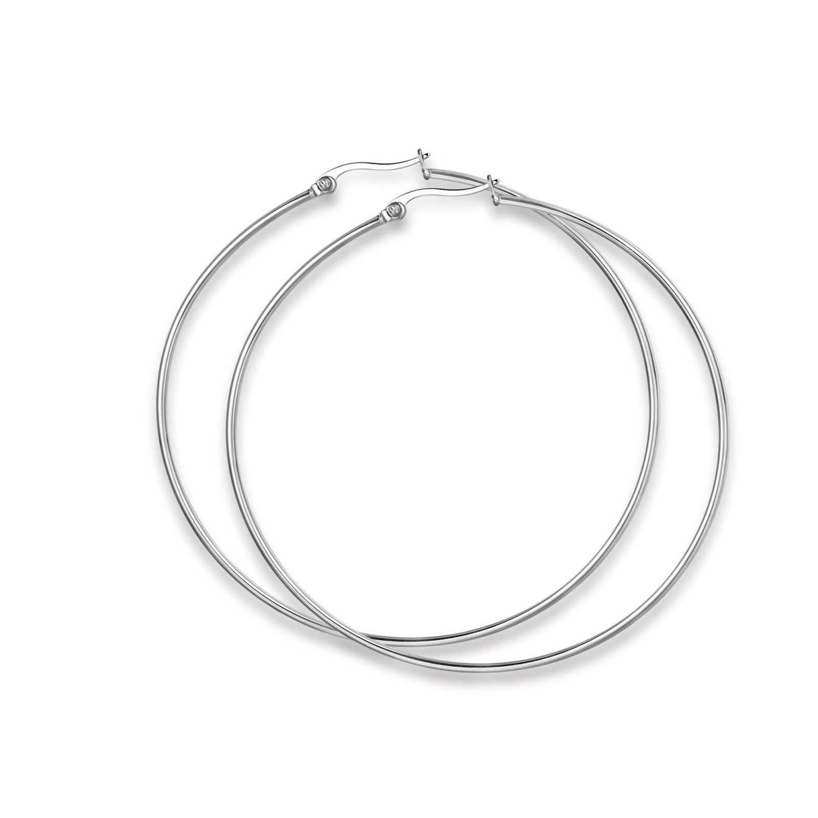 Luca Barra - Orecchini cerchio in acciaio diametro 63 mm