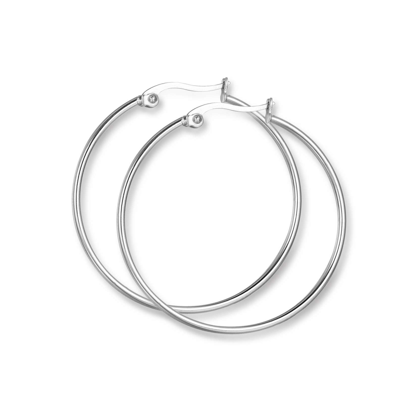 Luca Barra - Orecchini cerchio in acciaio diametro 35 mm