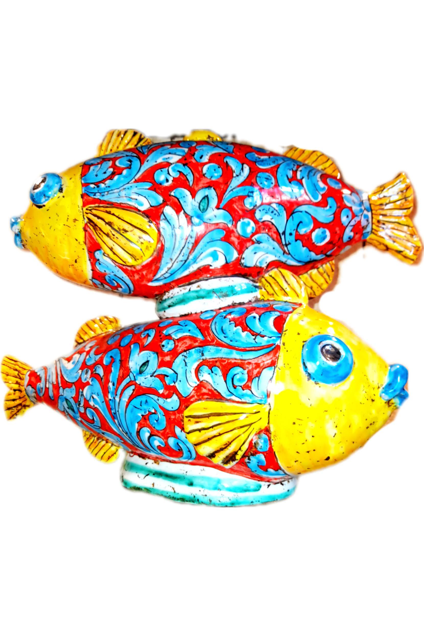 Ceramiche di Caltagirone Pesci Colorati