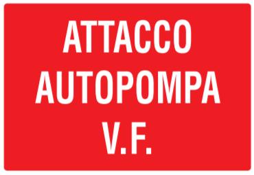 CARTELLO ATTACCO AUTOPOMPA V.F. 30X20