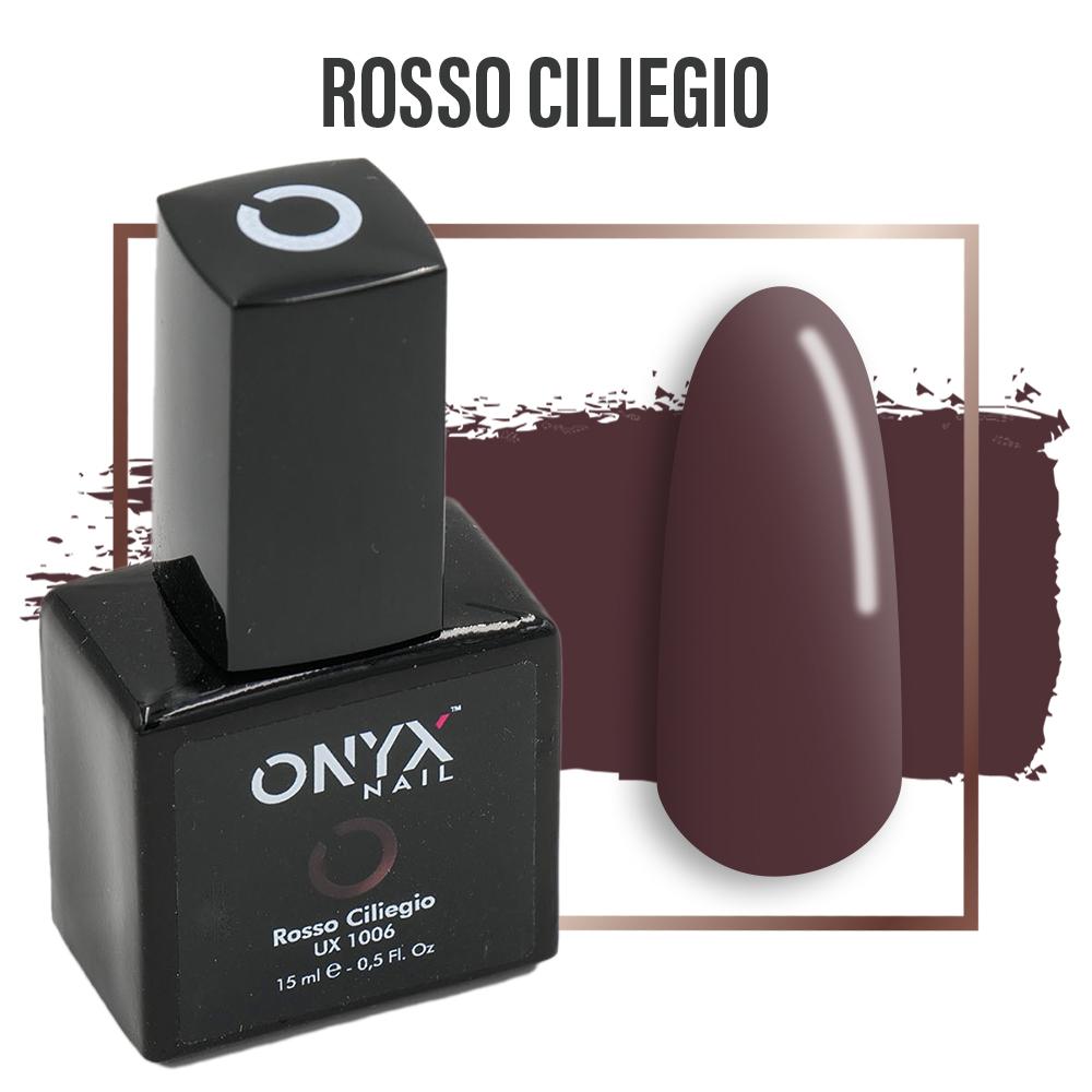 Smalto Semipermanente Gel Rosso Ciliegio 4 in 1 Linea Unix - 15 ml