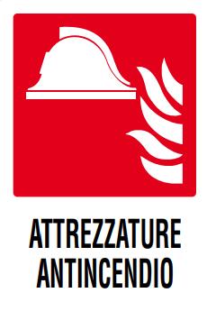 CARTELLO ATTREZZATURE ANTINCENDIO 20X30