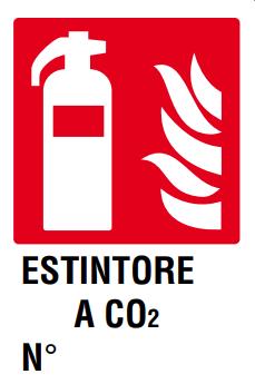CARTELLO ESTINTORE A CO2 N° 20X30