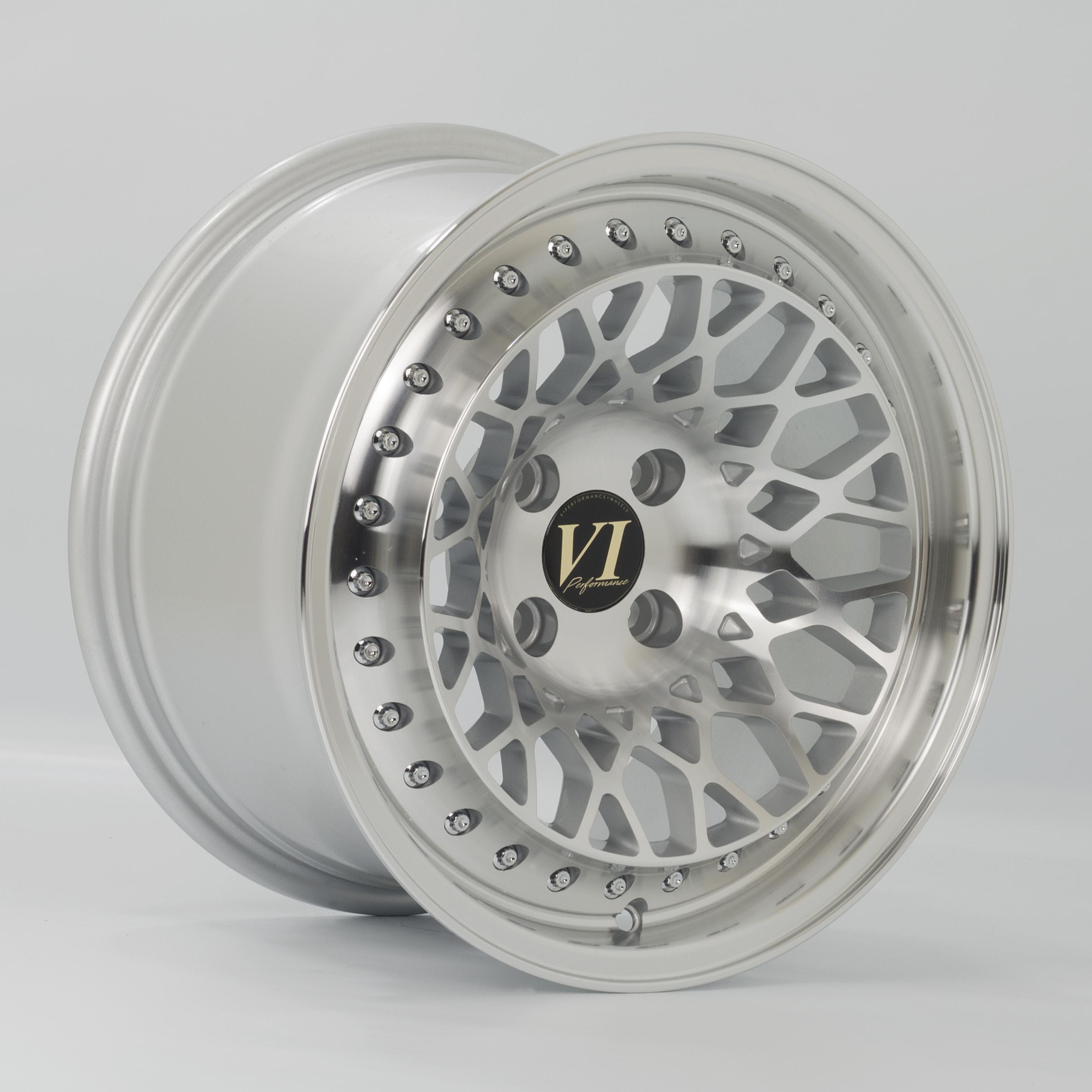 Cerchi in lega  6Performance  Infinity  15''  Width 8.25   4x100  ET 15  CB FPS    Silver