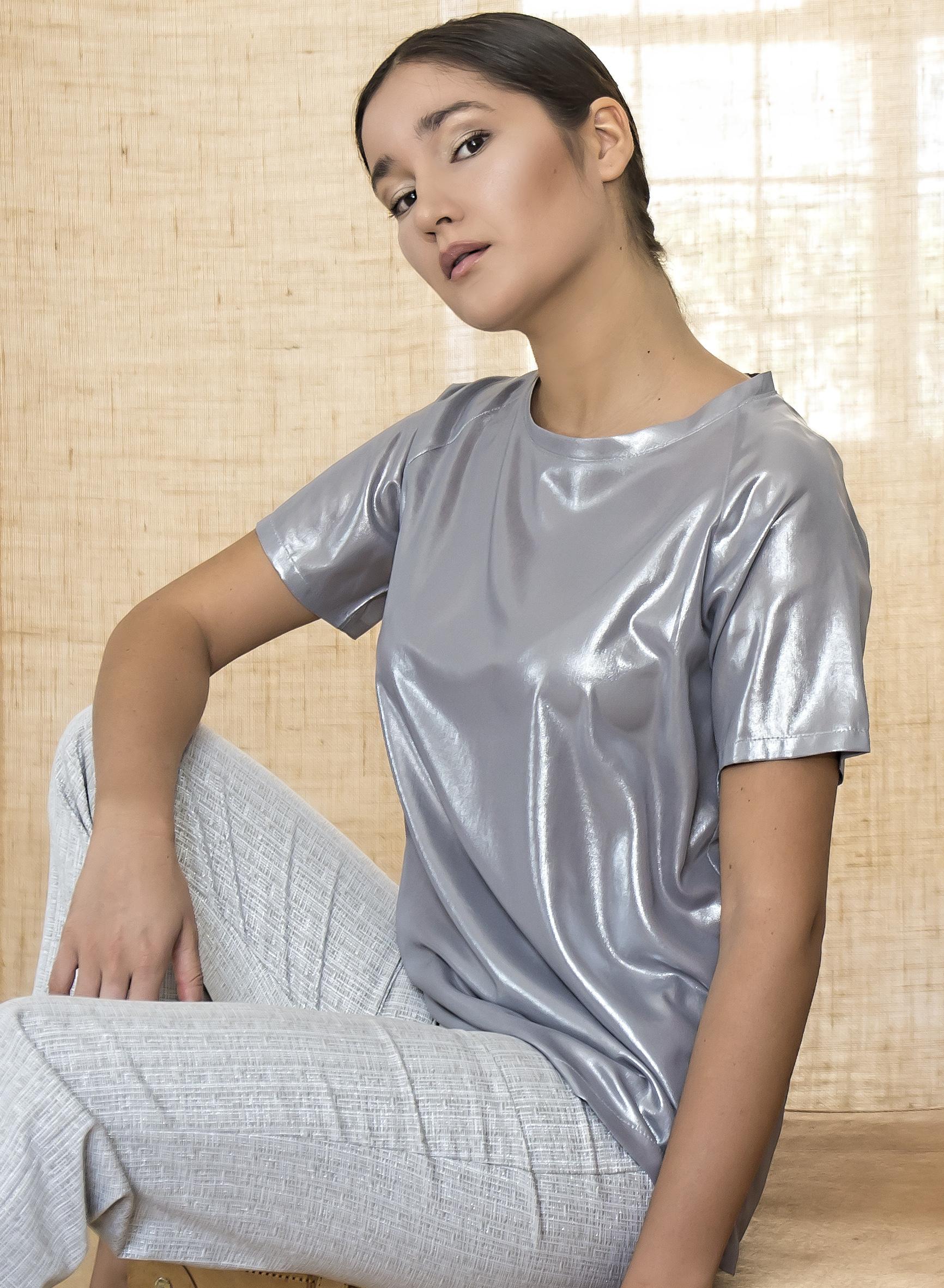 T-shirt Spalmato Lurex