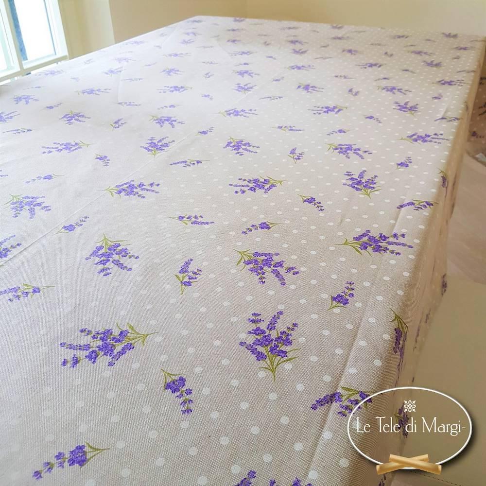Tovaglia mazzetti di lavanda resinata