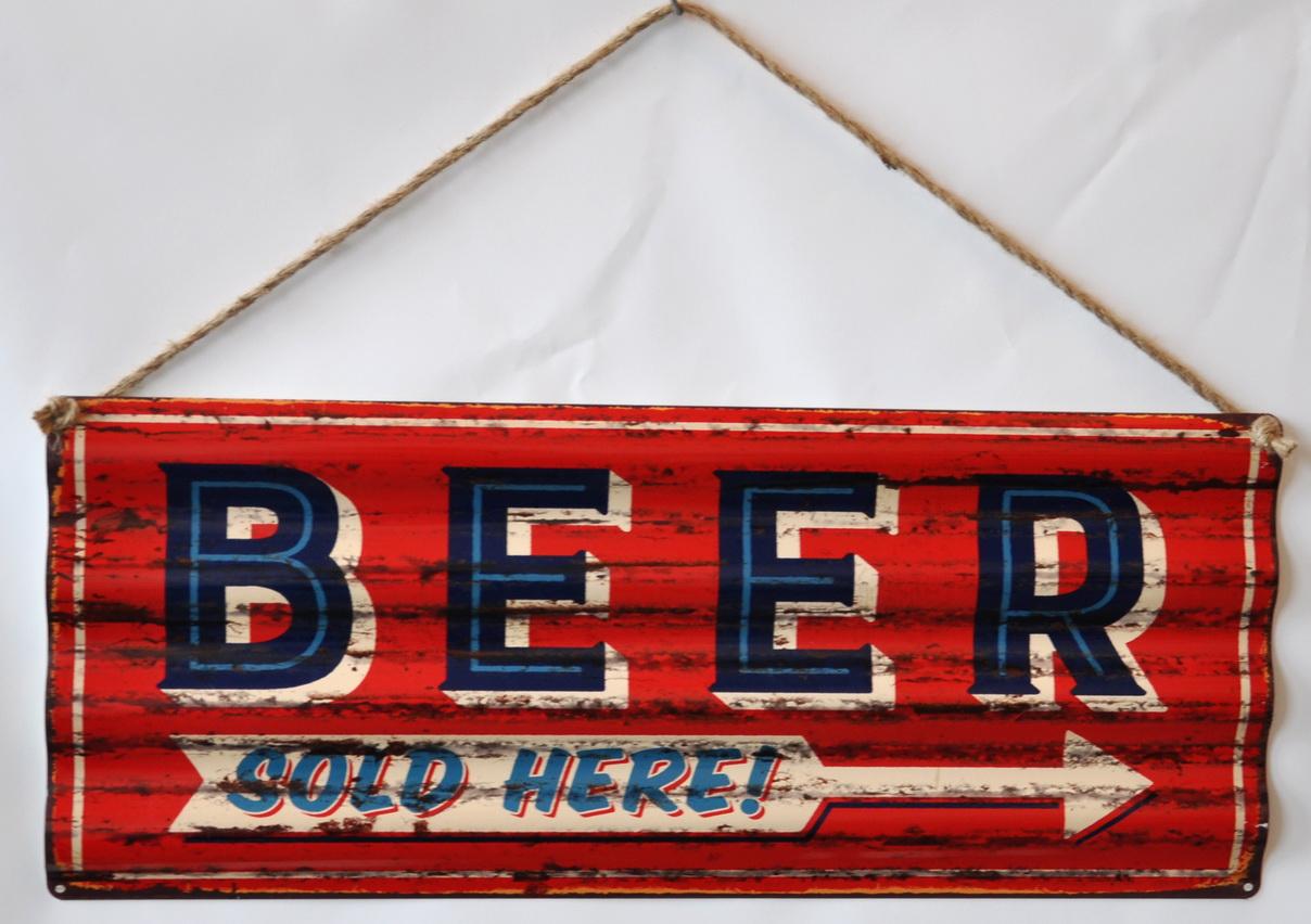 Pannello targa metallo Beer